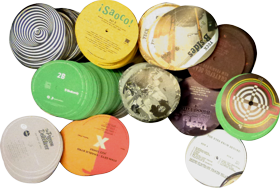 graphic about Printable Vinyl Record Labels named Labels GZ Vinyl
